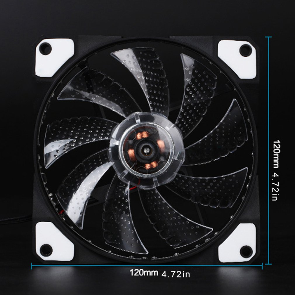 12CM Ultra Quiet 33LED Colorful Light PC Computer Cooling CPU Cooling Fan BU