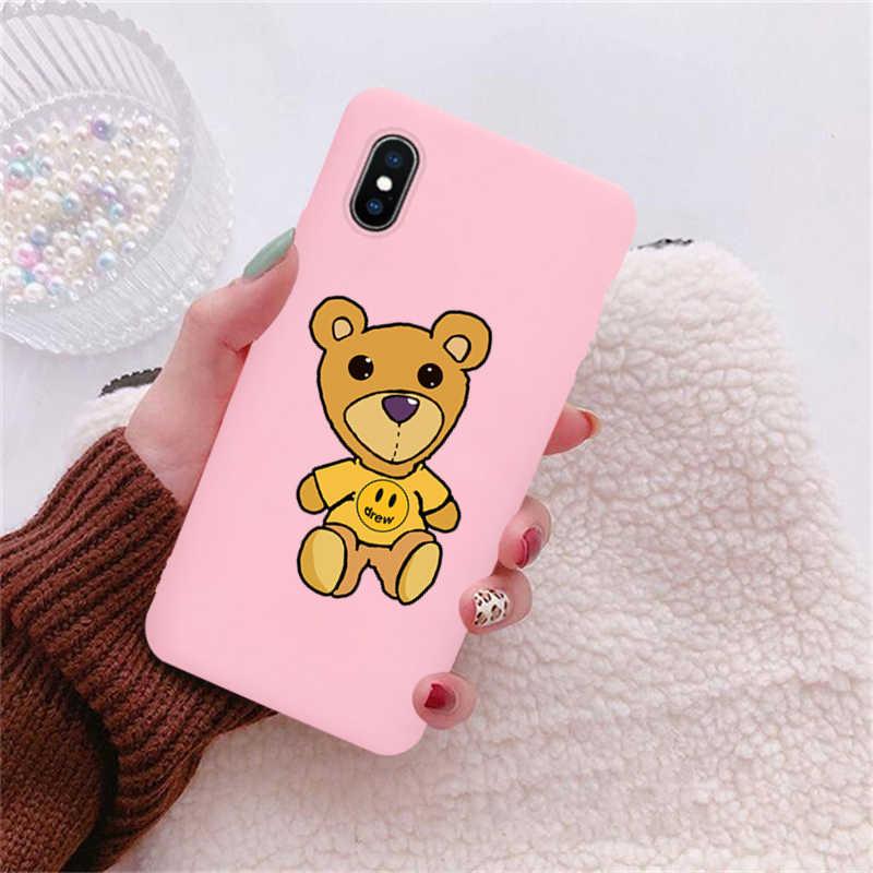Justin Bieber Drew Haus Mode Silikon Soft Shell Telefon Fall für iPhone 11 Pro Max X XS Max XR 6 6s 7 8 Plus Bär Telefon Abdeckung
