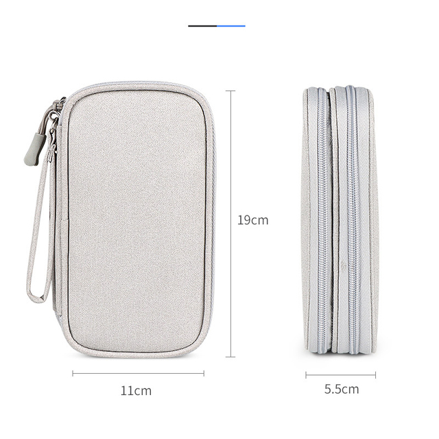 Portable Power Bank Bag USB Charger Gadgets Cables Wires Organizer Pouch Travel Electronic Accessories Protection Storage Case 2