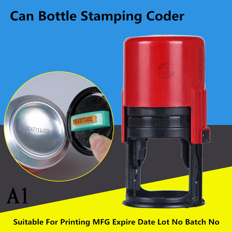 Can Bottom Production Date Coder Expiration Number Printer Manual Lot Mark Printing Machine Oil Pad Printer Metal Wood Stamping