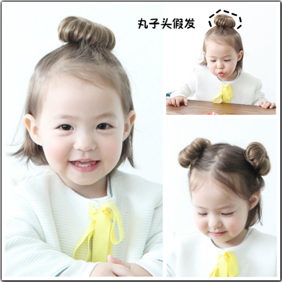Lanlan The Tide Girl Wig Female Baby Ball Head Hairpin Girl Summer Foreign Style Baby Hair Wig Small Synthetic Chignon For White Synthetic Chignon Aliexpress
