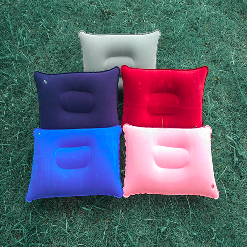 Convenient Ultralight Inflatable PVC Nylon Air Pillow Sleep Cushion Travel Bedroom Hiking Beach Car Plane Outdoor Portable Head