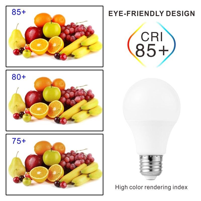 4PCS LED Lamp Light Bulbs E27 E14 3W 9W 12W 15W 18W 24W 220V LED Bulb High Brightness Lampada For Home Bombillas Warm Cold White 4