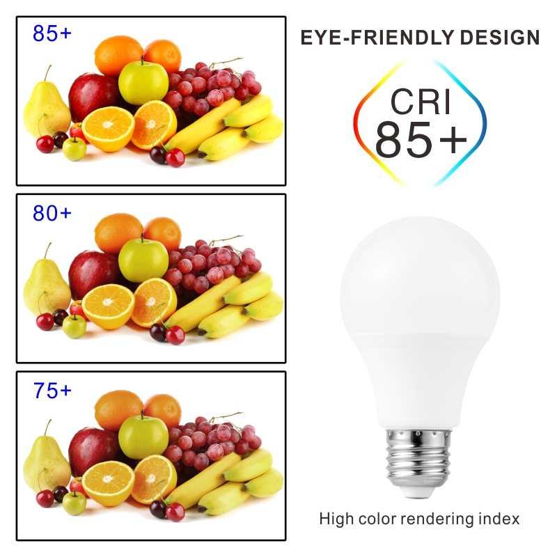 4 Pcs LED Lampu Lampu Lampu E27 E14 3W 9W 12W 15W 18W 24W 220V LED Kecerahan Tinggi Lampada untuk Rumah Bombillas Hangat Dingin Putih