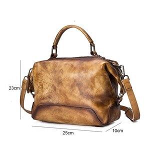 Image 5 - جوهناتشر رسمت باليد جلد طبيعي حقيبة يد فاخرة حقائب النساء 2020 جديد عادية حمل سعة كبيرة حقائب الكتف و Crossbody