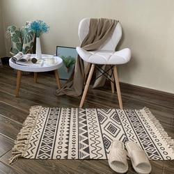Miękki bawełniany pompon dywan do domu do salonu sypialnia dziecko sypialnia dekoracji dywan do domu drzwi podłogowe dywany proste Nordic w Dywany od Dom i ogród na