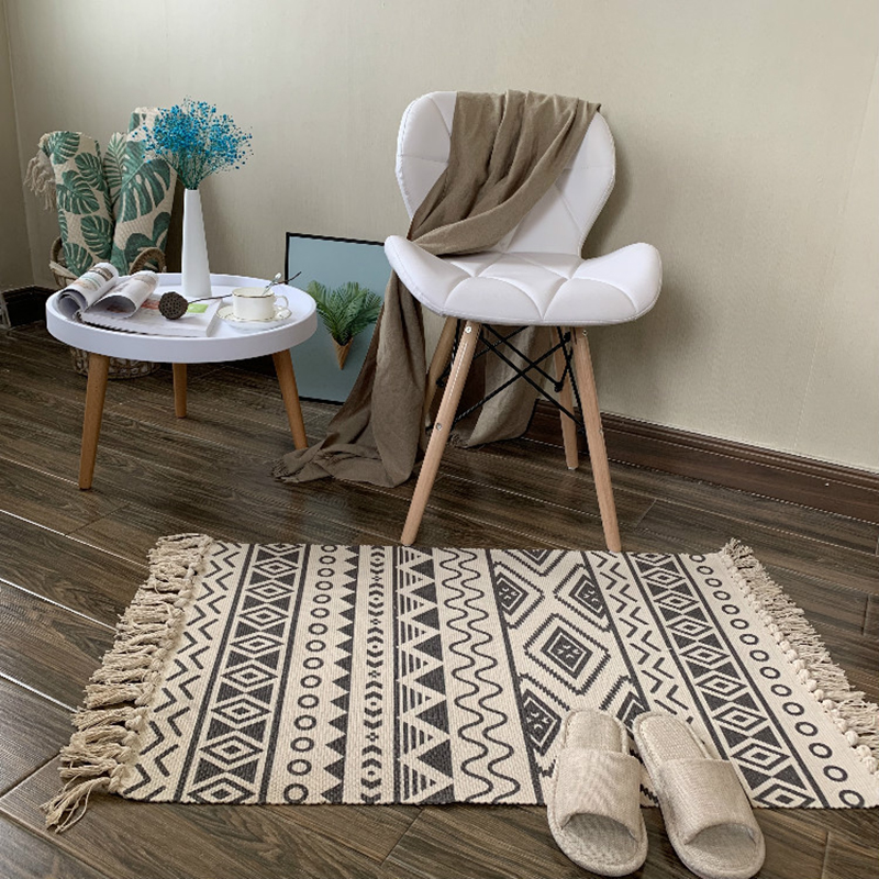 Soft Cotton Tassel Home Carpet For Living Room Bedroom Child Bedroom Decorate Home Carpet Floor Door Carpets Simple Nordic