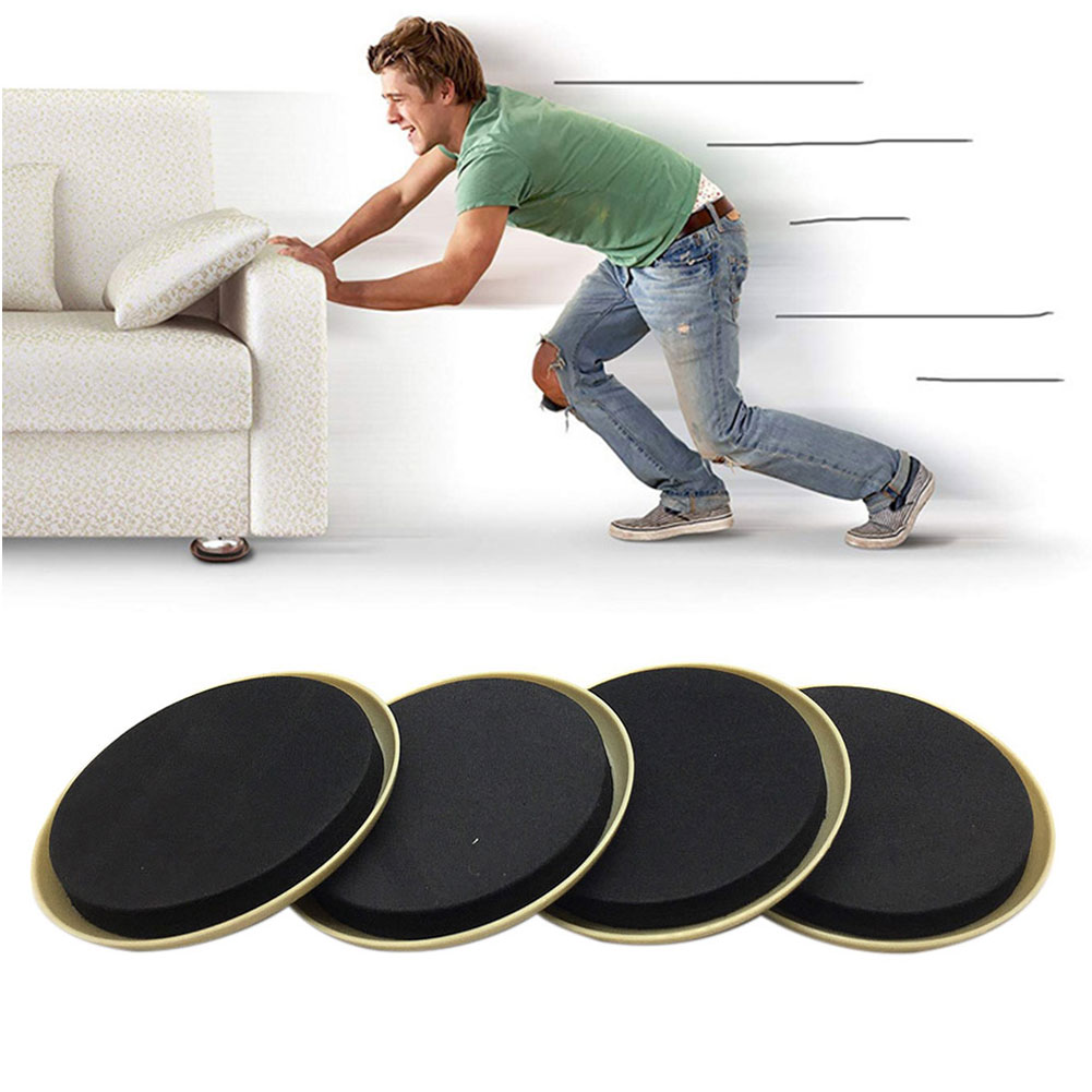 8pcs Heavy Appliances Glider Reusable Furniture Sliders Anti Scratch Thickened Moving Pad Noise Reduction Sofa Protect Carpet