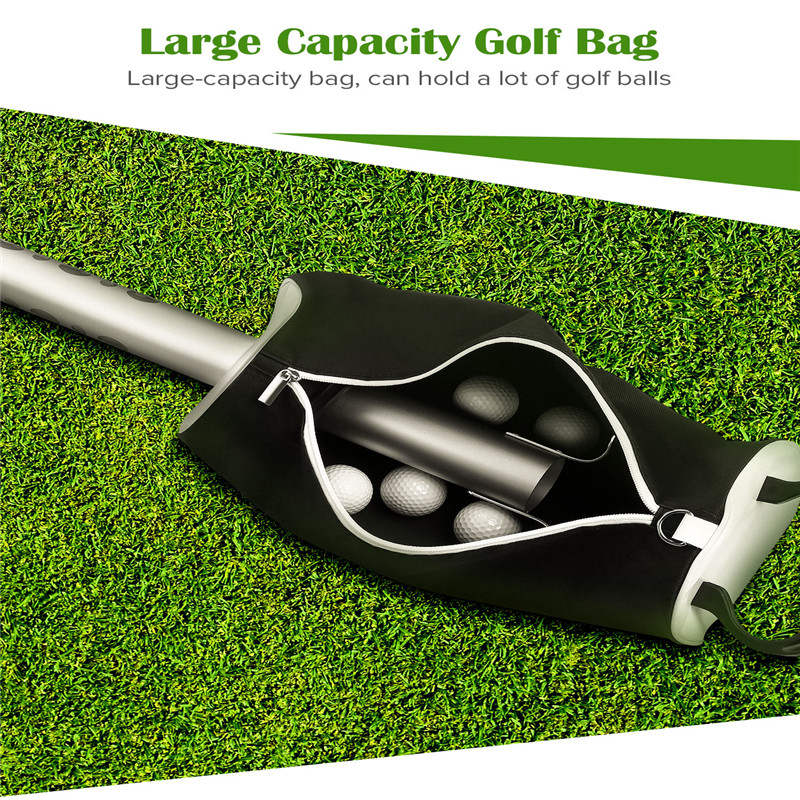 BOBLOV Golf Ball Pick Up Shag Bag Portable Pocket Storage Golf Shagger Bag Ball Retriever