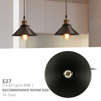 Retro Incandescent Bulb Lid Chandelier Rural Warehouse Decoration Lamp Retro Style Living Room Bedroom Decoration Lamp