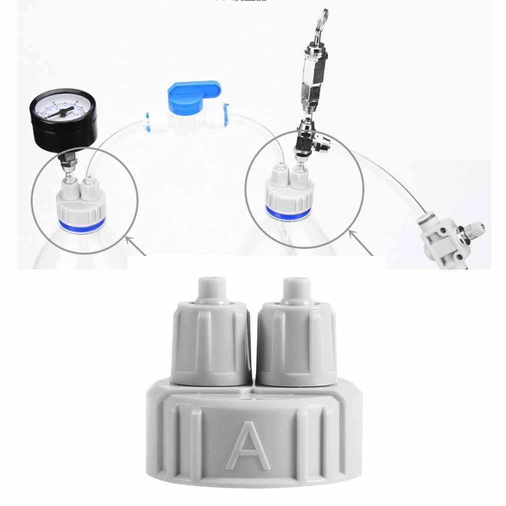 1 unidad de sistema de CO2 de acuario Pro tubo de válvula de Guage Kit de tapa de botella de pecera planta en vivo DIY difusor de aire generador Kit de piezas de herramienta
