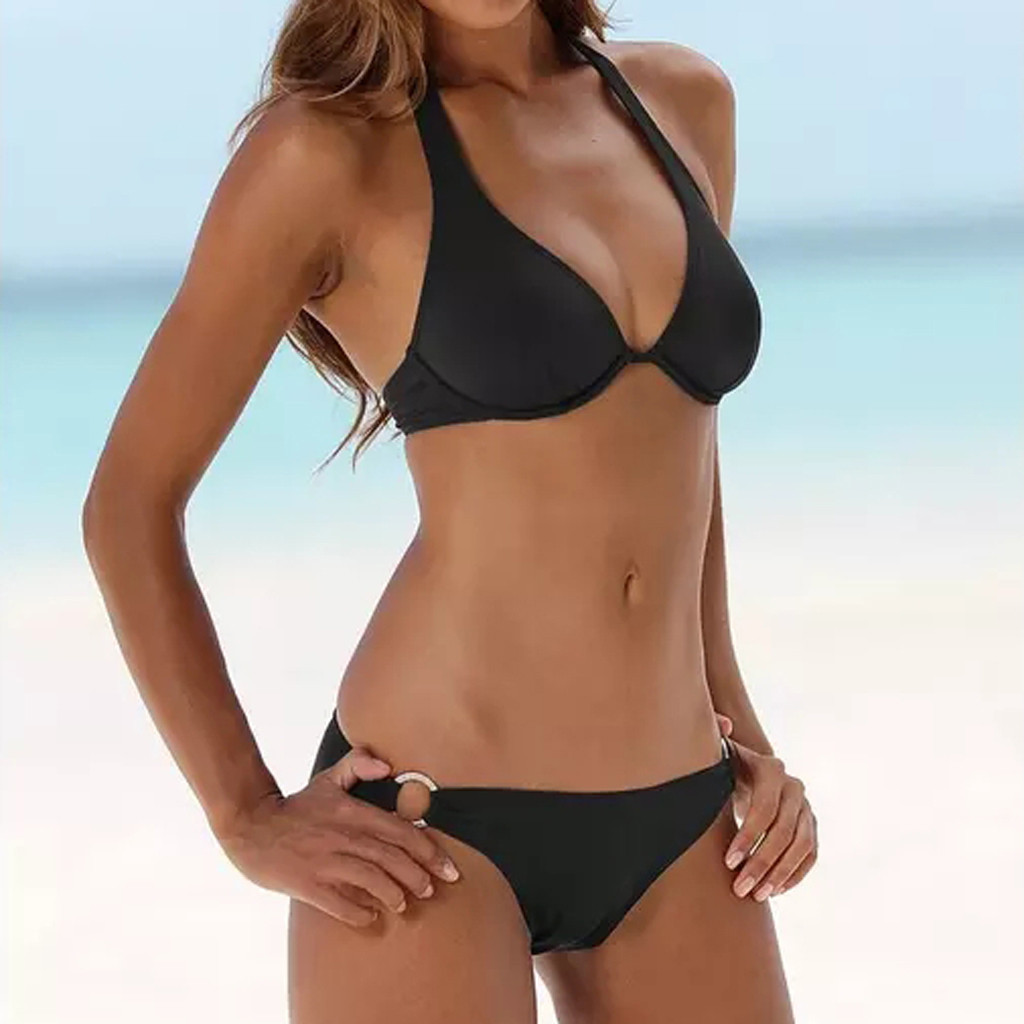 Women Bikini Swimwear Swimsuit Micro Bikini Solid Sexy Bikinis Set Underwire Bikini Push Up Bathing Suit Beach Wear#3