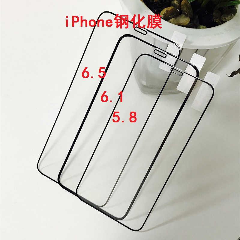 2 قطعة غطاء كامل الزجاج آيفون 11 برو XR X XS ماكس الزجاج المقسى حامي الشاشة آيفون 7 6 6s 8 Plus SE 2020 11 الزجاج
