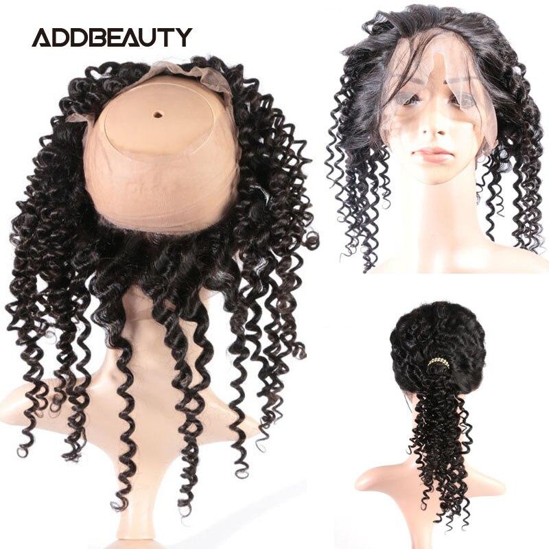 Extensión de cabello humano brasileño virgen con cierre Frontal, Color Natural, densidad del 360