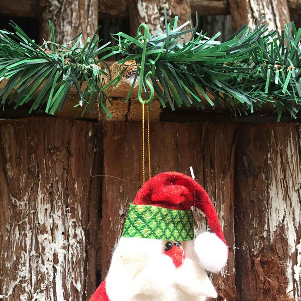 10 個スモールグリーンクリスマスツリーのオーナメントフック装飾ハンガーワイヤー卸売