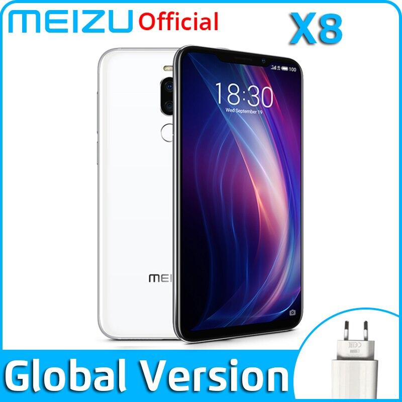 Meizu X8, 4 ГБ, 64 ГБ, 6 ГБ, 128 ГБ, глобальная версия, мобильный телефон Snapdragon 710, четыре ядра, телефон на Android, двойная задняя камера, распознавание лица