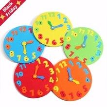 거품 번호 시계 퍼즐 시계 학습 장난감 조기 교육 재미있는 지그 소 퍼즐 게임 어린이 1 6 세 13*13cm