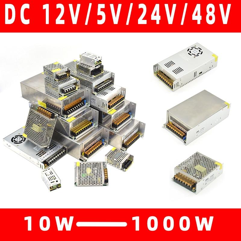 Lighting Transformers 110V 220V To DC 5V 12V 24V 48V 1A 2A 3A 5A 10A 20A 30A 40A CCTV LED Strip Power Supply Adapter