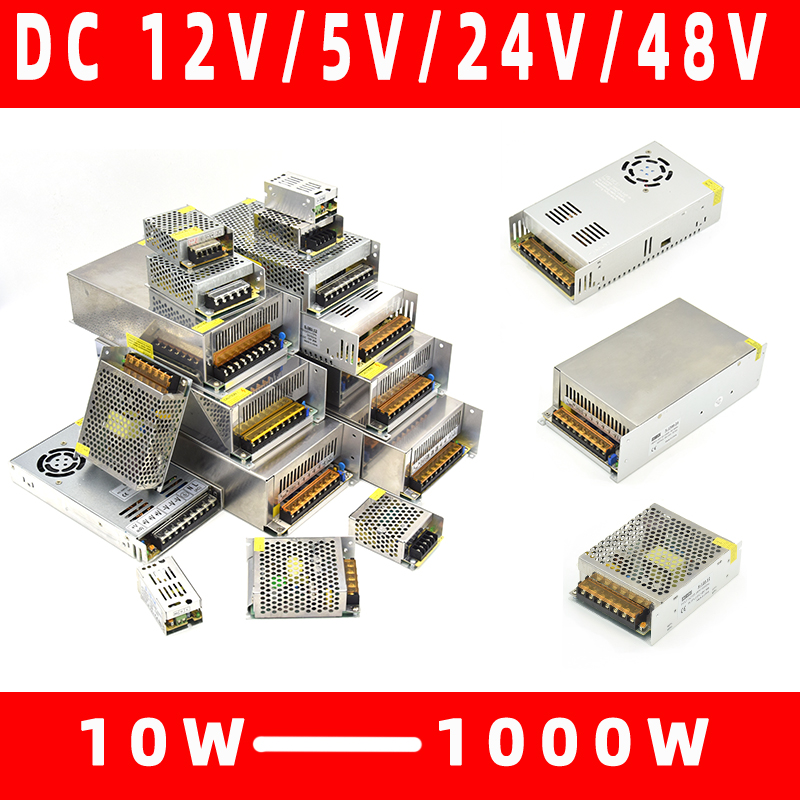 Lighting Transformers 110V 220V to <font><b>DC</b></font> 5V 12V 24V <font><b>48V</b></font> 1A 2A <font><b>3A</b></font> 5A 10A 20A 30A 40A CCTV LED Strip Power Supply Adapter image