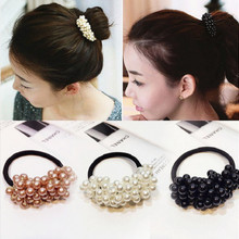 Headbands Elastic Ponytail-Holder Hair-Styling-Accessorie Women Rubber-Rope Scrunchies