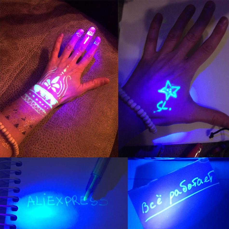 Magic Purple 2 In 1 UV Graffiti Black Light Combo Creative Stationery - Pen, pensel dan bekalan bertulis - Foto 2