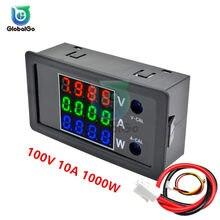 Voltímetro Digital LCD, amperímetro, probador de corriente de voltaje, Detector de voltios, 12V, 24V, 36V, 100 W, CC 0-1000 V, 10A, 1000W