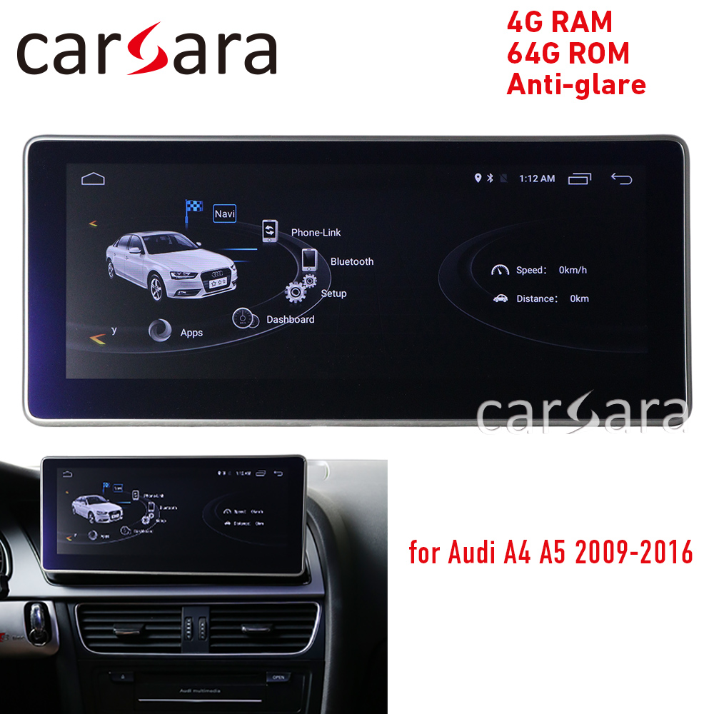 Anti-reflexo 4g ram android display para audi a4 a5 09-16 10.25