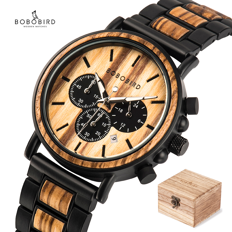 BOBO BIRD Wooden Watch Men erkek kol saati Luxury Stylish Wood Timepieces Chronograph Military Quartz Watches in Wood Gift Box|bird brand|watch topwatch top brand - AliExpress
