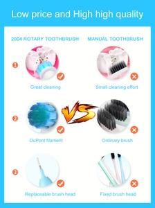 Image 5 - Seago Elektrische Tandenborstel Met 5 Opzetborstels Verwijder Batterij Roterende Sonische Volwassen Mondhygiëne Dental Tanden Borstel Voor Veiligheid Gift