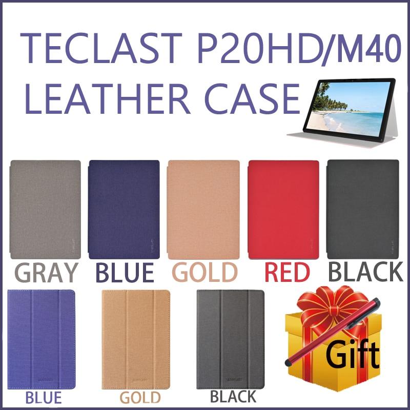 Teclast-funda protectora para tableta P20HD/P20/M40, moderna y duradera, plegable, de cuero PU, para E-book de 10,1 pulgadas