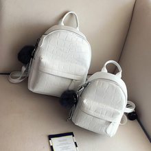 Mini Backpacks Women PU Leather Cute Small Backpack Female White Back Pack Black Backpacks For Teen Girls Fashion Bagpack Woman(China)