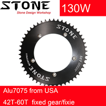 Stone 130 BCD chainring aero fixed gear track bike fixie Round 42T 46T 48T 50T 52t 54 58t 60t  tooth Chainwheel 130bcd цена