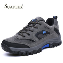 SUADEEX Men's Hiking Shoes Waterproof Hiking Boots Outdoor Shoes Non-slip Camping Trekking Trails Snow Boots Autumn Winter Warm hiking boots women waterproof mouantain shoes winter snow boots for women anti slip outdoor trekking sneakers ladies boots