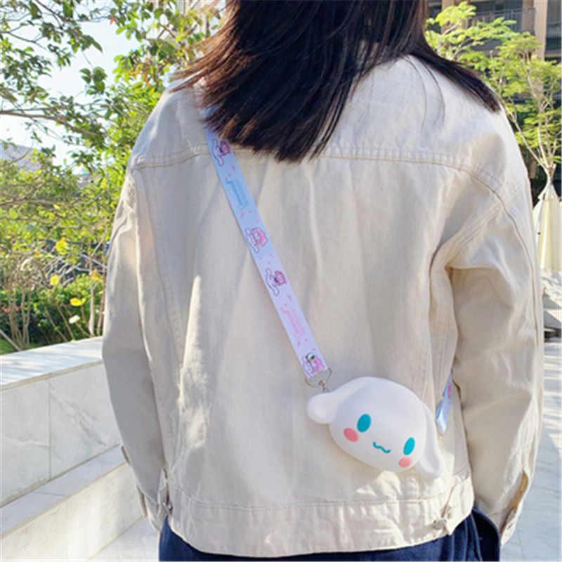 Monedero Portable de dibujos animados de Anime para mujer, bolsa de silicona suave para llaves, Mini bolsa de dinero para chicas, caja pequeña para estuches de Airpods
