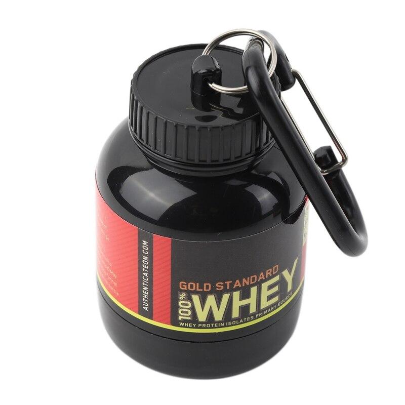 1PC  Black Small Protein Powder Refillable Bottle Portable Milk Powder Container Kitchen Storage Box