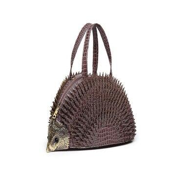 2019 New Personality design simulation Hedgehog styling bag creative cute diagonal Novelty Brand Messenger Gothic Handmade Bag