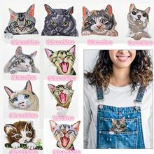 10 Pcs Cute Cat Iron on Patches Embroidered Motif Applique Assorted Size Decoration Sew On for DIY Jeans Jacket, Clothin