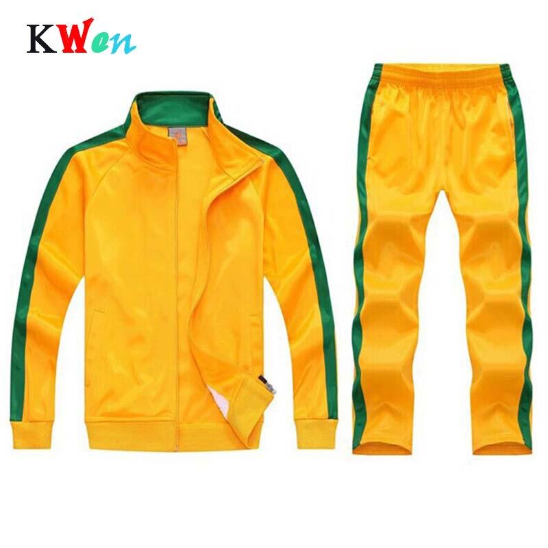 Two Pcs Sweatsuits Tracksuit Men Team Track Suit Zip Track Jacket Sweatpants Joggers Men Tracksuits Sport Suits Jogging Set