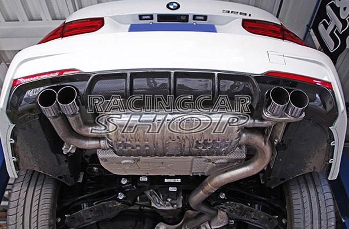 Difusor trasero de fibra de carbono Real estilo P 4 tubos para BMW 3-Series F30 M-TECH M-parachoques deportivo 320i 328i 335i 2012UP B159