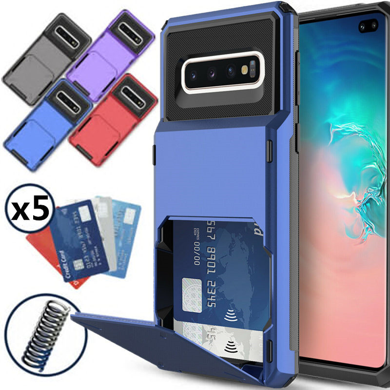 Case for Samsung Galaxy S10 Plus 5G S9 S8 S7 Note 10 9 8 Case Wallet 5-Card Pocket Card Slot Cover For A7 A8 A9 2018 A750 A9S