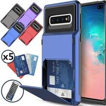 Custodia per Samsung Galaxy S10 Plus 5G S9 S8 S7 nota 10 9 8 custodia portafoglio 5 carte tasca Slot per schede Cover per A7 A8 A9 2018 A750 A9S