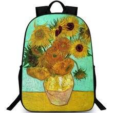 Sac à dos de jour avec Tournesols, sac d'école avec peinture, sac de jour pour l'extérieur, Vincent van Gogh