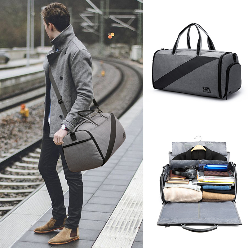 New Style Xi Zhuang Bao Business Travel Bag Hand Travel Bag Waterproof Wet And Dry Separation Bag Travel Bag Gym Bag