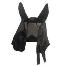 Прочная Летающая маска, противомоскитная сетка, аксессуары, лошадь, летняя броня, покрытие для ушей, практичные принадлежности для домашних животных, защита от ультрафиолета