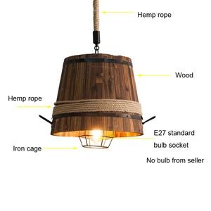 Image 4 - Mỹ Retro THÙNG GỖ đèn chùm đèn chùm thanh Câu Lạc Bộ cafe phòng ngủ ánh sáng sáng tạo trang trí cà phê nhà hàng Mặt dây chuyền đèn