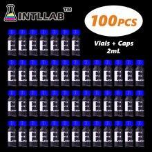 INTLLAB kromatografi flakon 2ml 9mm kapak ve Septa otomatik Parse örnek şişesi ölçekli 100pc