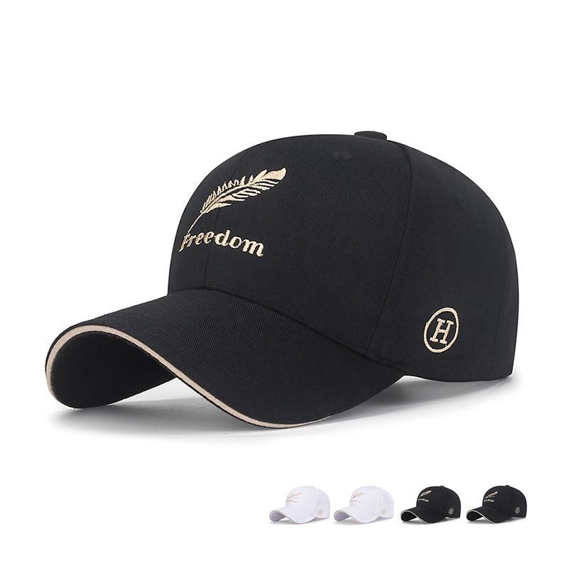 Gold Letter Embroidery Peaked Cap For Women Black Cotton Baseball Cap Sun Hat Adjustable Size Fashion Designer Luxury Woman Hat