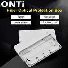 ONTi caja de protección de Cable óptico caja de protección de fibra óptica, Tubo termorretráctil para proteger la bandeja de empalme de fibra 2 en 2 salidas, 10 Uds.