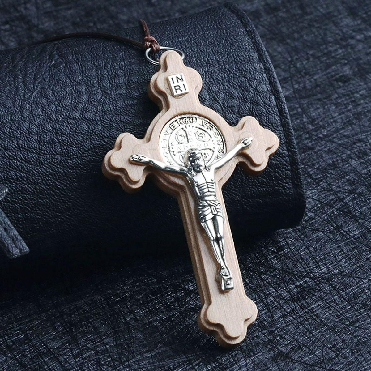 Religious Latin Catholic Cross Necklace