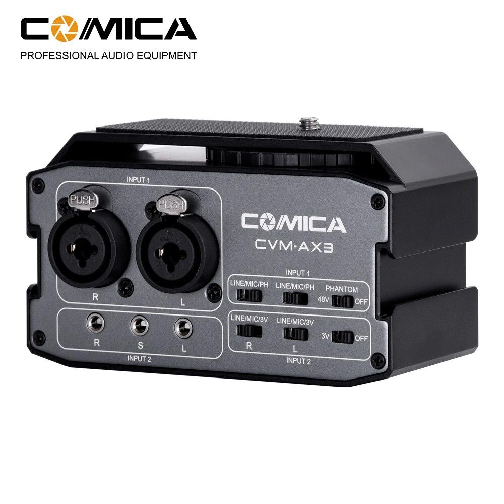 Comica CVM-AX3 dupla xlr 6.35mm 3.5mm microfone